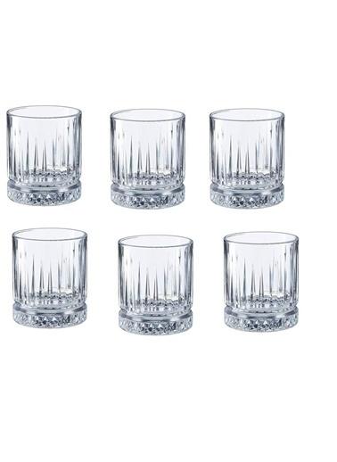 Paşabahçe Kristal 6 Lı Kahve Yanı Küçük Su Bardağı - Su Bardak Elysia Renkli